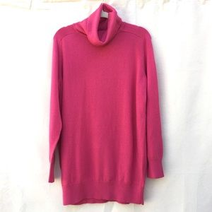 Lands End   NWOT berry knit turtleneck sweater